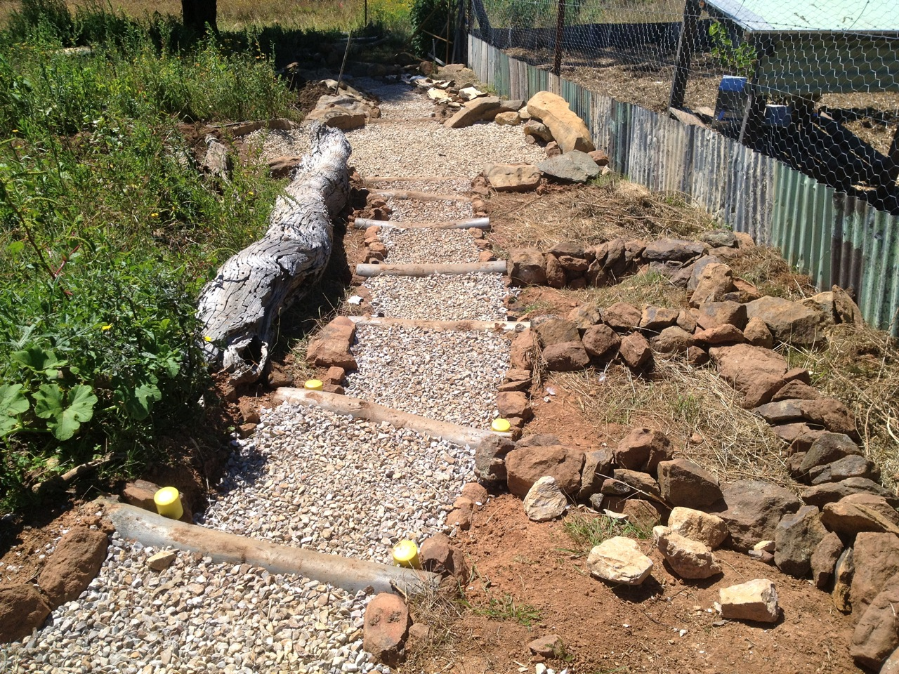 Making DIY Steps Down The Side Of The Forest Garden   Milkwood:  Permaculture Courses, Skills + Stories