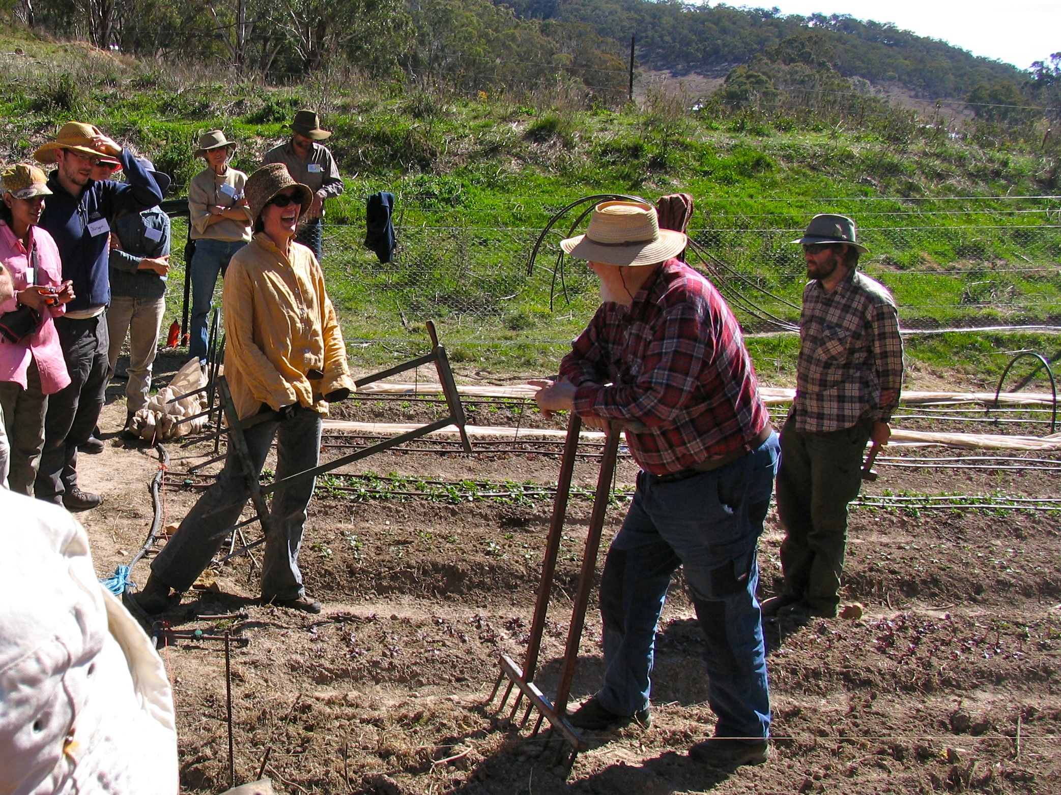 market garden training at milkwood farm