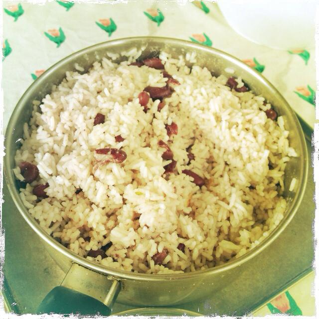 Lawrence's Jamaican coconut rice and beans