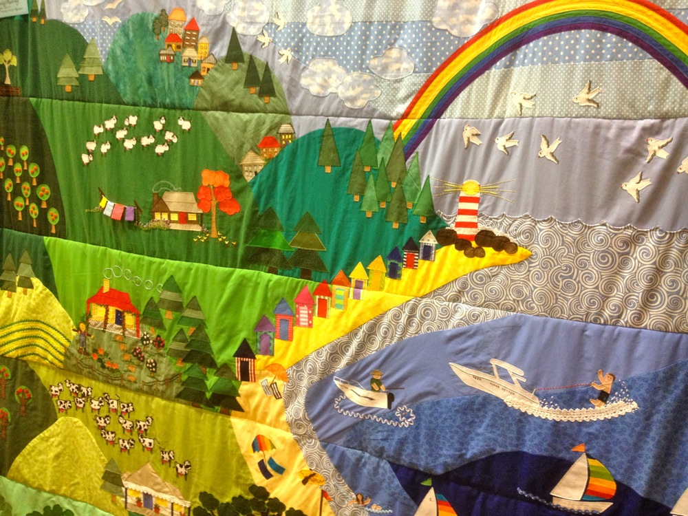 The entire illawarra region depicted on a single quilt