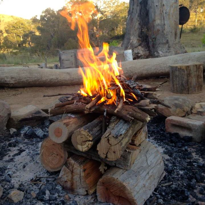 how to how to start fire in fireplace : Making an Upside Down Fire - Milkwood