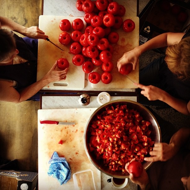 Tomato Day at Cornersmith. Only 200 kg to go... Image by Cornersmith
