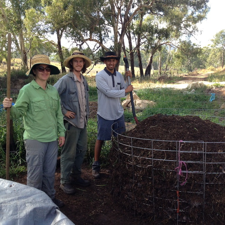 Yay market garden team! Karen, Michael and Lawrence