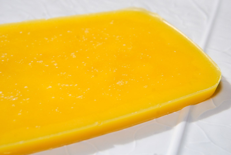 The result! Pure beeswax post-extraction, by curbstone valley