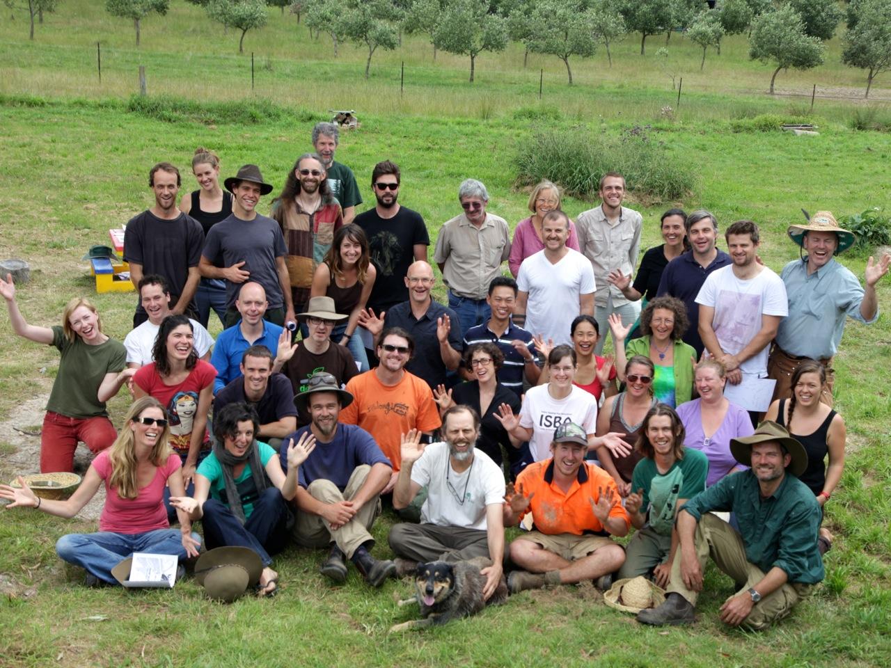 Forest Garden Design Intensive Grads (and crew) - Autumn 2013, Milkwood Farm