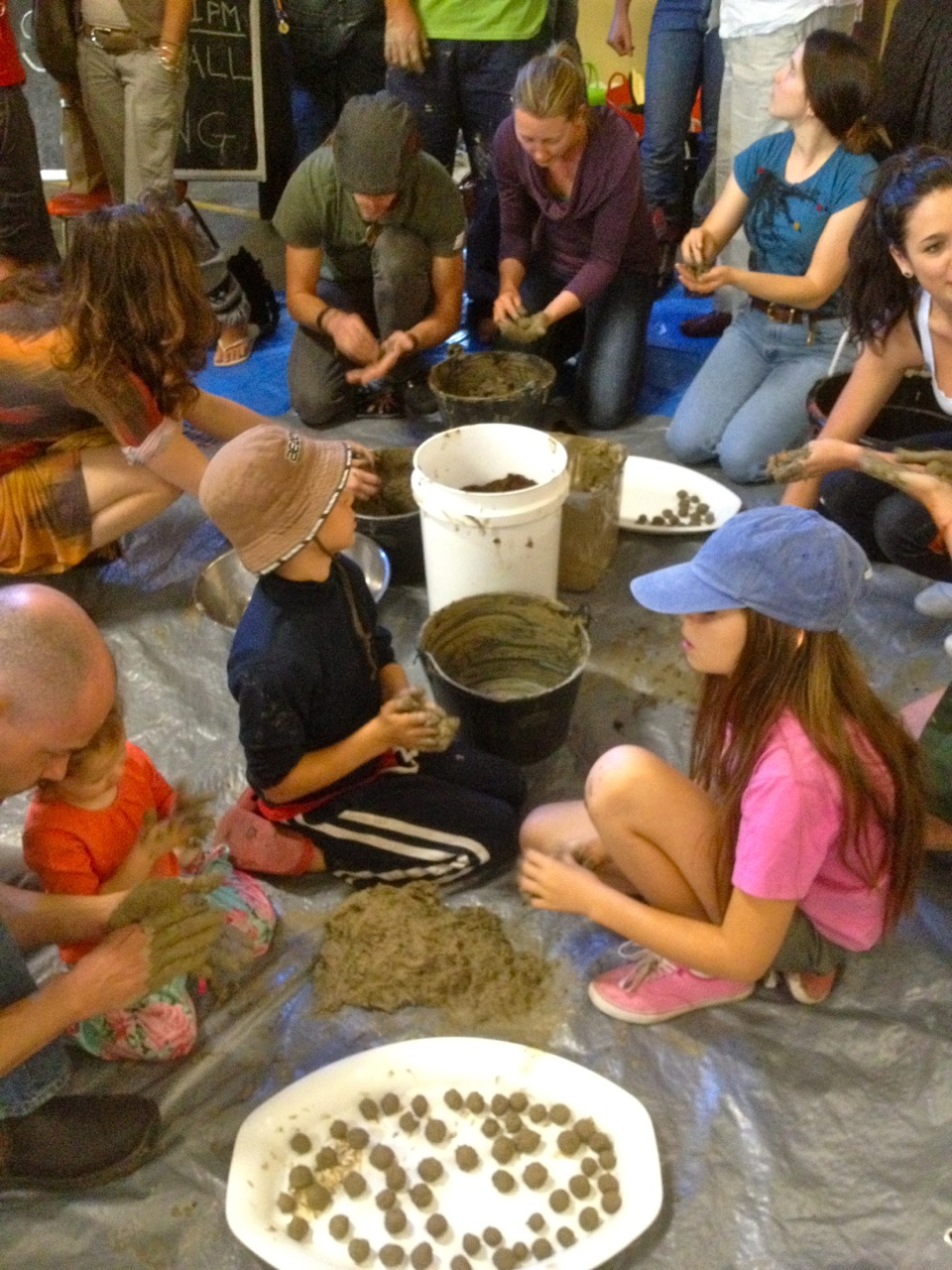 Making seedballs at our Seed Circus event a while back